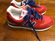 Scarpe New Balance 574 Rosse, n 43, come nuove