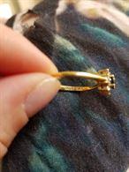 Anello oro, zafiro e diamanti