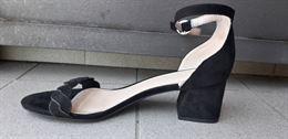 Scarpe nere con tacco 5 cm mai usate