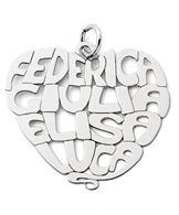 Ciondolo in argento 925 personalizzato con nomi