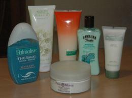 Stock di prodotti per il corpo