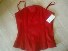 Bustino H&M rosso in raso