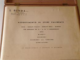 Assortimento di Sfere Calibrate I.Binda 1970