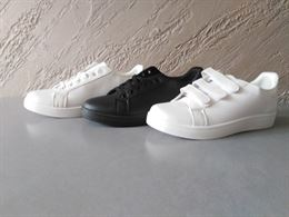 Stock scarpe da ginnastica uomo donna bianche nere sneaker 4