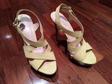 Sandali Guess da donna tacco 10 numero 37 giallo limone